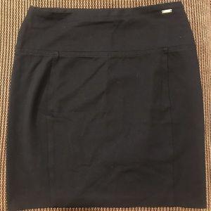 Ivanka Trump HIGH STRETCH work black skirt L
